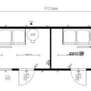 Two 4-Bay Shower and Changing Compartments