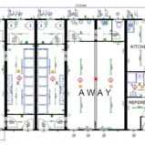 Large Modular 2 Team Changing Rooms with Officials Changing Room + Kitchen and Canteen