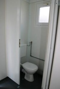 Unisex Changing Room with Toilet and Shower suitable for use by Disabled persons.
