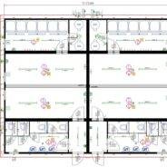 Large Modular 2 Team Changing Rooms with Showers and Toilets