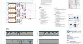 Modular 4-Team Changing Rooms with Officials Changing Room and Clubhouse social area and kitchen